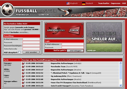 Fussballmanager Screenshot 2