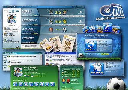 Online Fussballmanager Screenshot 1