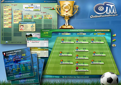 Online Fussballmanager Screenshot 2