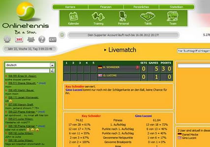 Onlinetennis Screenshot 3