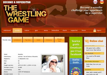 Wrestling Browsergame
