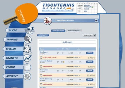 Tischtennis Manager Screenshot 3
